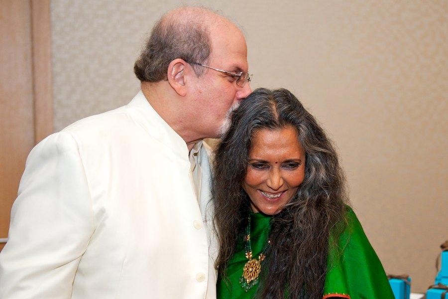 Salman Rushdie and Deepa Mehta by Ryan Emberley